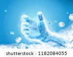 ice grabbing hand with flying... | Shutterstock .eps vector #1182084055