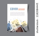 business brochure. flyer design.... | Shutterstock .eps vector #1182084445