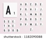 alphabet letters on white... | Shutterstock .eps vector #1182090088