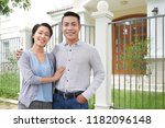happy young vietnamese couple... | Shutterstock . vector #1182096148