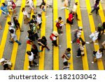 busy pedestrian crossing at... | Shutterstock . vector #1182103042