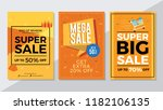 end of season sale  mega sale... | Shutterstock .eps vector #1182106135
