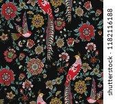 dark enchanted vintage flowers... | Shutterstock .eps vector #1182116188