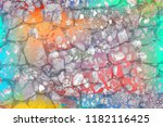 grunge style colorful paint... | Shutterstock . vector #1182116425