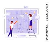 planning development of ideas... | Shutterstock .eps vector #1182120415