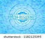 non resident light blue emblem. ...   Shutterstock .eps vector #1182125395