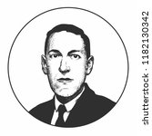 howard phillips lovecraft  an... | Shutterstock .eps vector #1182130342