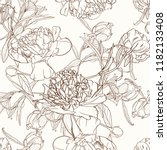 Peony Flowers Seamless Pattern...