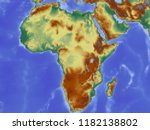 coloured map of africa | Shutterstock . vector #1182138802