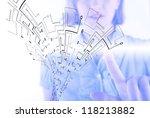 microchip background   close up ... | Shutterstock . vector #118213882