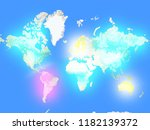 abstract coloured map of the... | Shutterstock . vector #1182139372