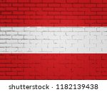 austria flag above simple stock ... | Shutterstock . vector #1182139438