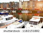 france. normandy. onfler   june ...   Shutterstock . vector #1182151882