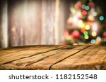 wooden destroyed table by the... | Shutterstock . vector #1182152548