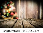 wooden destroyed table by the... | Shutterstock . vector #1182152575