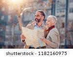 mature couple of tourists... | Shutterstock . vector #1182160975