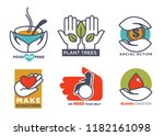charity  blood or donation or...   Shutterstock .eps vector #1182161098