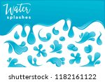 water drops and splashes vector ... | Shutterstock .eps vector #1182161122