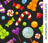delicious sweet candies in... | Shutterstock .eps vector #1182161152
