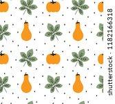 cute autumn fall seamless... | Shutterstock .eps vector #1182166318
