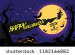 happy halloween message design... | Shutterstock .eps vector #1182166882