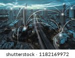 network and connection... | Shutterstock . vector #1182169972