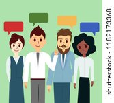group of business people chat...   Shutterstock . vector #1182173368
