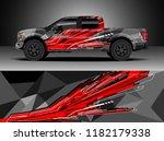 truck decal wrap design vector. ... | Shutterstock .eps vector #1182179338