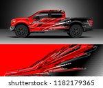 truck decal wrap design vector. ... | Shutterstock .eps vector #1182179365
