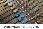 close up of music mixer...   Shutterstock . vector #1182179782