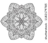 black and white mandala vector... | Shutterstock .eps vector #1182179785