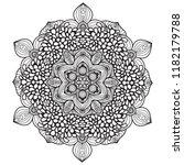 black and white mandala vector... | Shutterstock .eps vector #1182179788