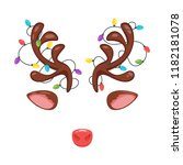 vector cartoon style santa...   Shutterstock .eps vector #1182181078