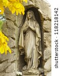 Saint Mary Statue In Cemetery...