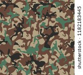 camouflage pattern. military... | Shutterstock .eps vector #1182183445