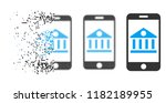 mobile bank icon in fragmented  ... | Shutterstock .eps vector #1182189955