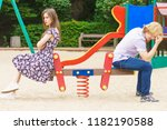 offended upset couple young... | Shutterstock . vector #1182190588