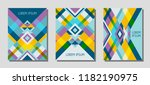 set of cover page layouts ... | Shutterstock .eps vector #1182190975