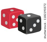 casino game icon  dices label ... | Shutterstock .eps vector #1182193372