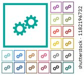 collaboration flat color icons... | Shutterstock .eps vector #1182196732