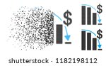 epic fail icon in dissolved ... | Shutterstock .eps vector #1182198112