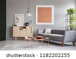 modern couch and copper tables... | Shutterstock . vector #1182202255