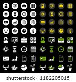 vector business icons set ... | Shutterstock .eps vector #1182205015