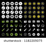 sound music icons set   audio... | Shutterstock .eps vector #1182205075