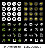 vector shipping icons set  ... | Shutterstock .eps vector #1182205078