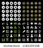 school icons  vector education... | Shutterstock .eps vector #1182205108