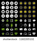email icons   message icon ... | Shutterstock .eps vector #1182205132
