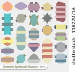 vector set  colorful banner... | Shutterstock .eps vector #118220716