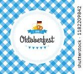 oktoberfest poster vector... | Shutterstock .eps vector #1182209842