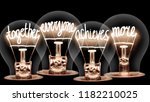 photo of light bulbs with... | Shutterstock . vector #1182210025
